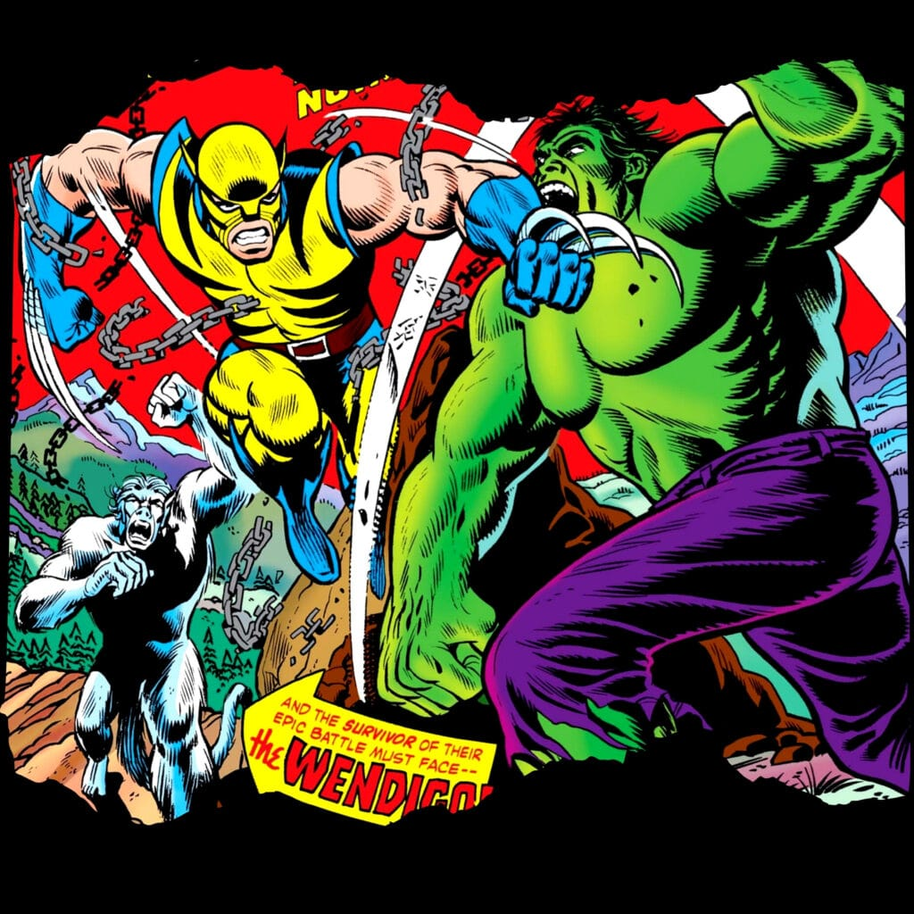 Superhero Shirts Wolverine and Hulk